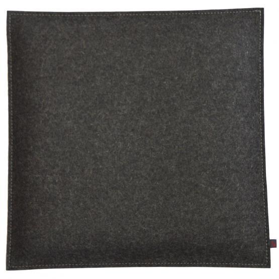 Filz Kissen Quadratisch, Grau/Hellgrau, 40 x 40 cm