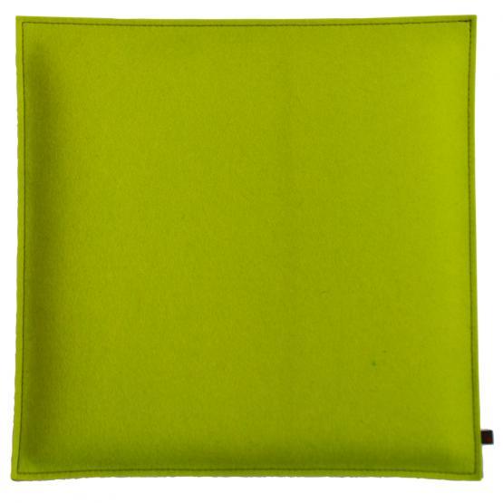 Filz Kissen Quadratisch, Grün/Hellgrau, 40 x 40 cm