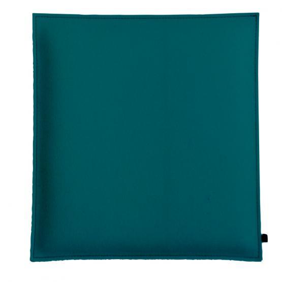 Filz Kissen Quadratisch, Petrol/Hellgrau, 40 x 40 cm