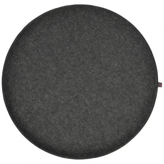 Filz Kissen Rund, Grau, Ø 40 cm