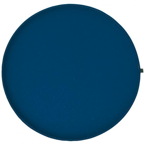 Filz Kissen Rund, Jeansblau/Hellgrau, Ø 40 cm