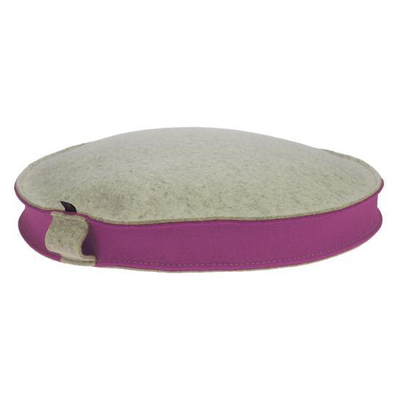 Yogakissen rund beige/rosa