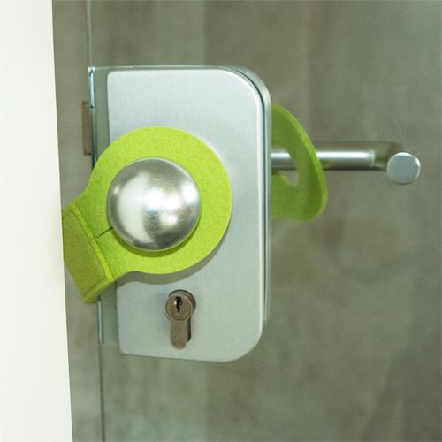 Türstopper, Wollfilz, Gelbgrün