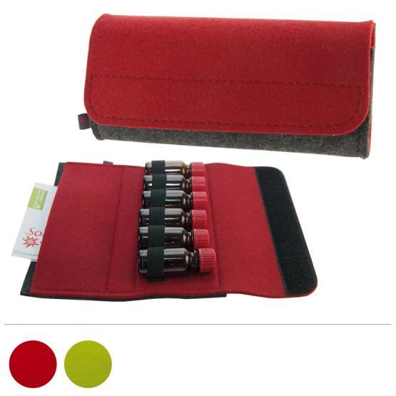 Taschenapotheke Fläschchen, Filz, 6 Schlaufen, 2 Farben