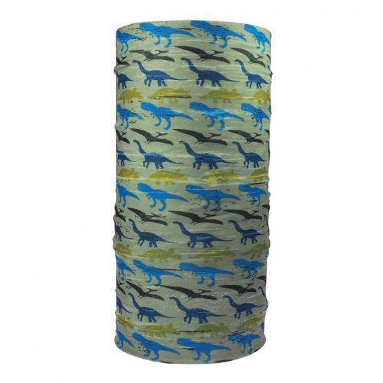 Multifunktionstuch Dinosaurier, Khaki/Blau/Grün