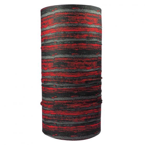 Multifunktionstuch Streifen, Rot/Schwarz