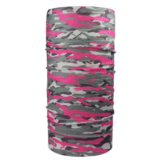 Multifunktionstuch Camouflage, Rosa
