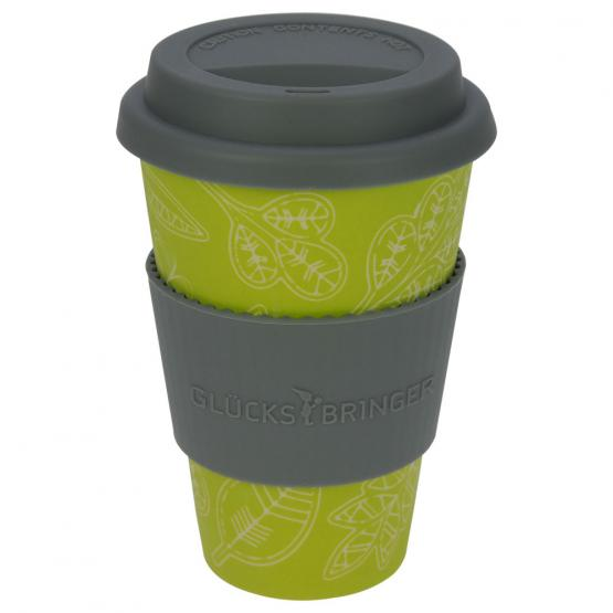 "Coffee-to-Go-Becher aus Bambus ""Glücksblatt"""