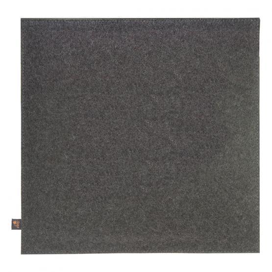 filz kissen kuh grau rot 40 x 40 cm ebos. Black Bedroom Furniture Sets. Home Design Ideas