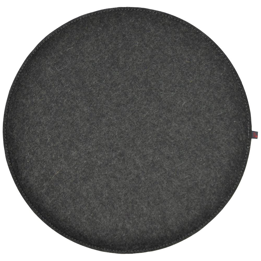 filz kissen rund grau 40 cm ebos. Black Bedroom Furniture Sets. Home Design Ideas