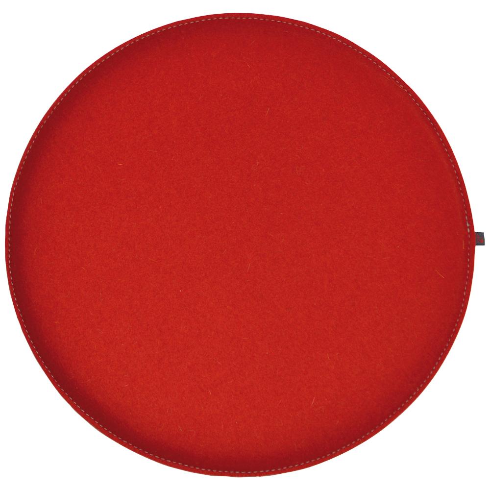 filz kissen rund rot hellgrau 40 cm ebos. Black Bedroom Furniture Sets. Home Design Ideas